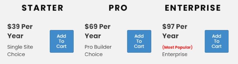 wordpress landing page builder pricing