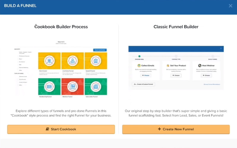 Build a funnel with Click Funnels