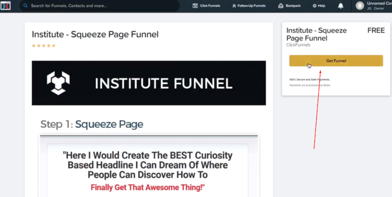 custom funnel with clickfunnels