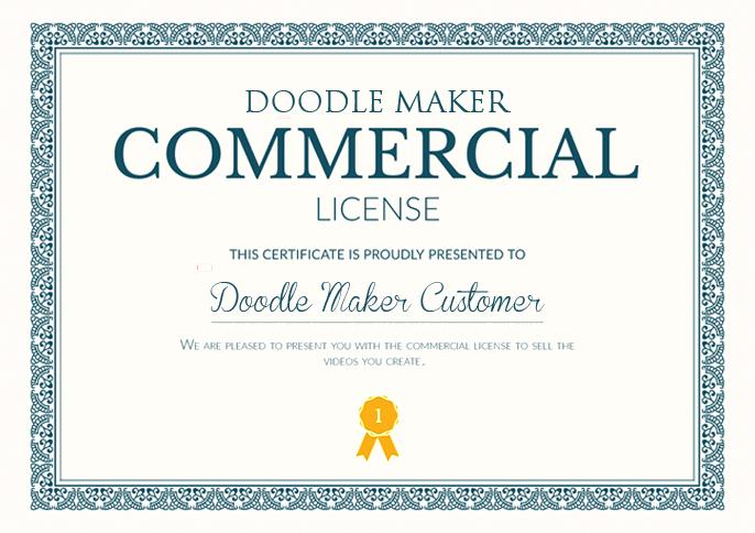 doodle maker commercial license