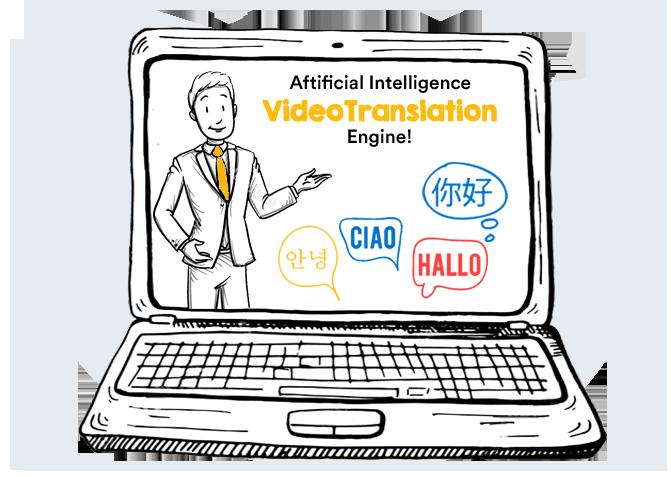 video translation in doodle maker