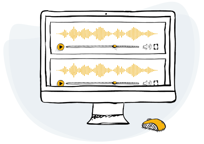 voice recording for doodle creator