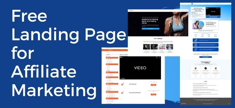 Free Landing Page for Affiliate Marketin