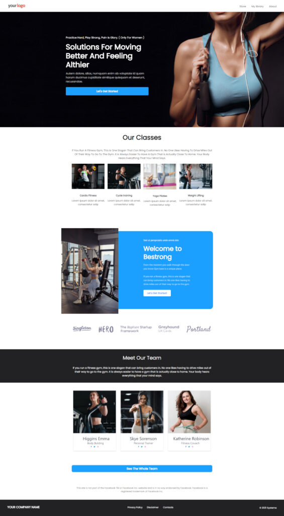 free squeeze page template
