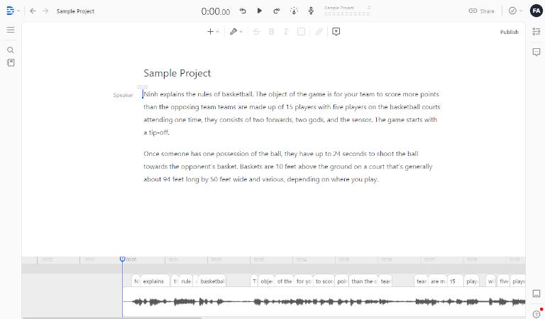 Transcribing Audio to text